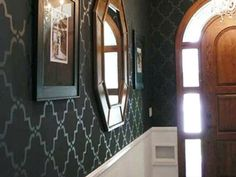 One of our most popular and easy to use allover stencil patterns. This Moorish Trellis fits so many styles of decor, from traditioinal to comtemporary to ethnic! All of our allover and damask stencil patterns feature an easy stencil registration system, allowing you to repeat these stencils across your wall perfectly every time.
