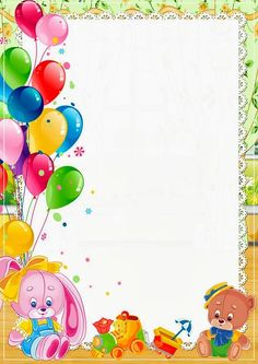 Happy Birthday Frame, Happy Birthday Wallpaper, Birthday Frames, Boarder Designs, Page Borders Design, Vintage Clipart, Photo Frames For Kids, Boarders And Frames, Birthday Charts