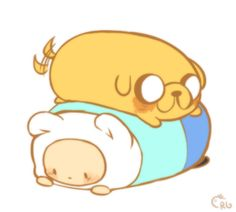 I think someone mentioned my tiny finn n jake doodles looking like tsum tsums?