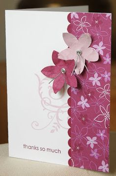 Cottage Wall designer paper cards