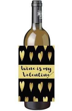 Valentines Day wine bottle labels⎜Personalized gifts⎜Galentines single lady party favors gift⎜custom cloud wine⎜Champagne labels⎜SET of 4 by TheShindyCo on Etsy