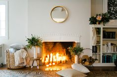 Cozy | non-working fireplace