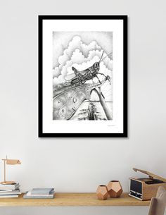 Discover «Grilo pegando sol», Numbered Edition Fine Art Print by Marcos André…