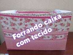 FORRANDO CAIXA DE PAPELÃO COM TECIDO - Paty di Paula
