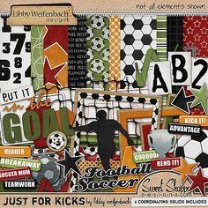 soccer digital scrapbook kit - Google Search
