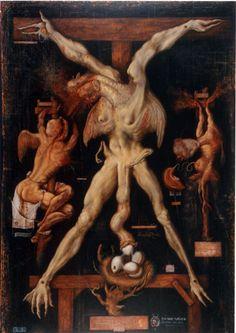 Marcelo Bordese Title: Leda Medium: Acrylic on canvas Size: 170 x 120 cm Year: 2003 Arte Horror, Horror Art, Medieval Art, Renaissance Art, Beast Creature, Satanic Art, Macabre Art, Occult Art, Baphomet