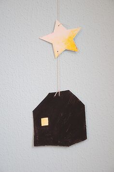 house + star ~ This would be cute with our house number painted on or attached to it.