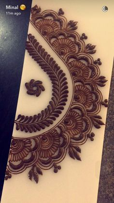 Henna                                                                                                                                                                                 More Arabic Henna Designs, Henna Designs Easy, Unique Mehndi Designs, Latest Mehndi Designs, Beautiful Mehndi Design, Henna Tattoo Designs, Henna Art, Mehndi Art, Mehendi