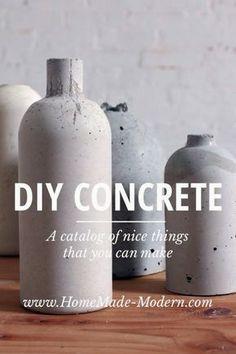 Concreto DIY florero