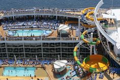 Royal Caribbean has released incredible aerial photographs of their newest cruise ship, Harmony of the Seas. Harmony of the Seas is the largest cruise Best Cruise, Cruise Tips, Cruise Travel, Cruise Vacation, Vacations, Italy Vacation, Symphony Of The Seas, Harmony Of The Seas, Holland America Line