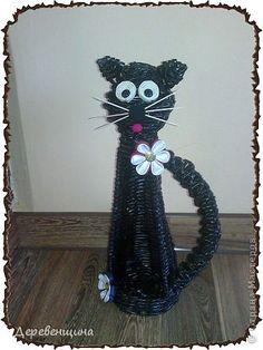 Мастер-класс Поделка изделие День рождения Плетение котик Бумага журнальная фото 1