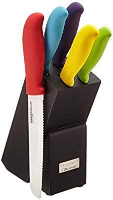 Amazon Com Cuisinart C59ce C6p Elements Ceramic 6 Piece Cutlery Knife Block Set Multicolored Gateway Ceramic Cutlery Knife Block Knife Block Set