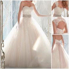 Classic white wedding gown