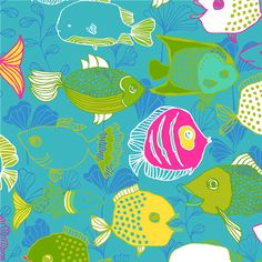 Hawaiian  Molokai Ocean Fish Blue by StacksOfStash on Etsy