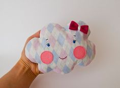 Pink girl cloud  Cherry pit heating pad Christmas gift by mazska, €14.00
