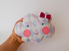 Pink girl cloud  Cherry pit heating pad Christmas gift by mazska, €14.00