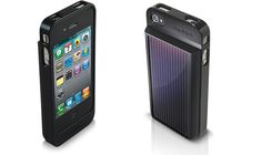 Solar panel iPhone charger and battery extender