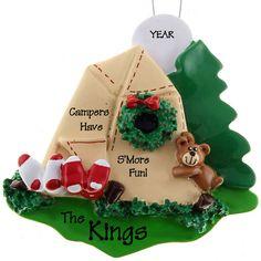 Camping Christmas Ornaments - Logan likes
