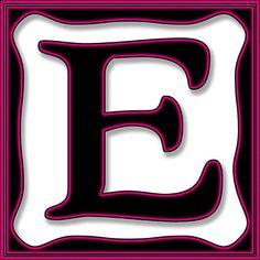 Presentation Alphabets: Drop Caps Letter E - Style 097