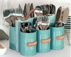 diy home sweet home: Tin Can Recycling Projects