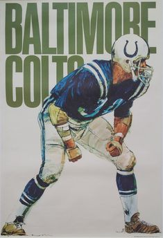 1968 Baltimore Colts American Football Poster  by OutofCopenhagen