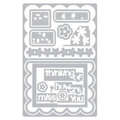 Metal sticker vintage ornamentos #4 cartas diseño bricolaje scrapbooking-nuevo