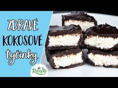 """Tieto zdravé domáce kokosové """"bounty"""" tyčinky sú skvelou zdravou alternatívou ku rôznym komerčným kokosovým tyčinkám plným cukru a stužených tukov a musím povedať, že chutia ešt... Healthy Sweets, Healthy Recipes, Healthy Food, Sweets Cake, Tiramisu, Food And Drink, Cookies, Baking, Ethnic Recipes"""