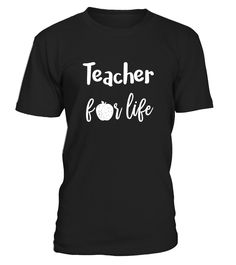 Teacher For Life T Shirt with Apple  Funny Back to school T-shirt, Best Back to school T-shirt