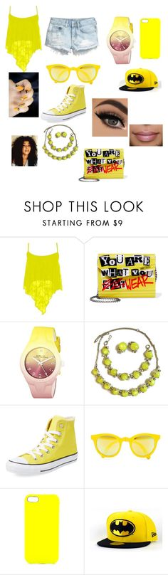 """Shades of Yellow"" by reenierocks1012 on Polyvore featuring H&M, Jimmy Choo, Marc by Marc Jacobs, CORO, Converse, Sunpocket and Jagger Edge"