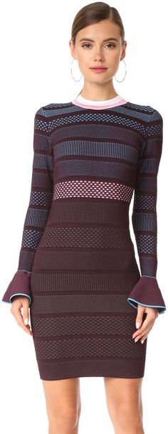 Versace Flutter Sleeve Knit Dress