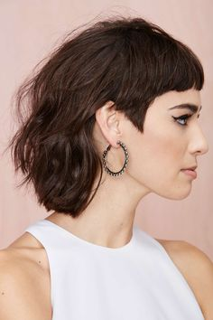 Growing out my undercutshaved sides but I want to keep my sideburns. How would I cut my hair for this look? Edgy Haircuts, Hairstyles With Bangs, Cool Hairstyles, Mullet Haircut, Mullet Hairstyle, Haircut Short, Cut My Hair, New Hair, Short Curly Hair