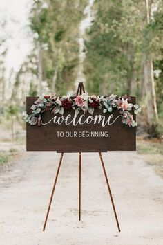 Custom wedding sign board  Welcome to our wedding sign Burgundy and dusty blue unplugged ceremony sign poster wedding hashtag sign canvas