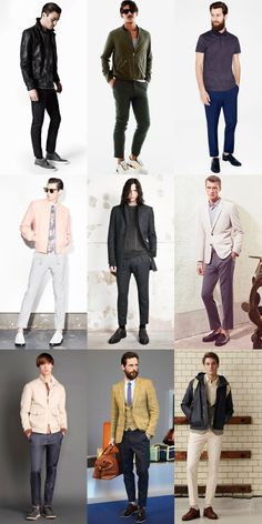 Trouser Lengths: Men's Shorter Trouser Break Lookbook