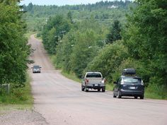 Magnetic Hill in Moncton, New Brunswick where you drive your car to the bottom of the hill, put it in neutral and your car backs UP  the hill
