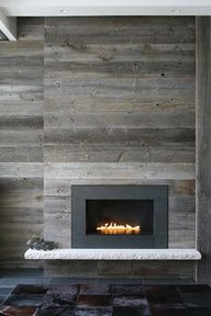 Use barnwood to re-vamp our brick fireplace