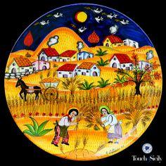 Italian ceramics - Decorative Plate Harvesting - $615,00