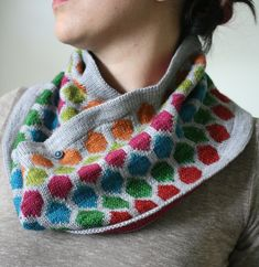 Chromaticity Cowl, Part of the Modern Colorwork Collection. $6