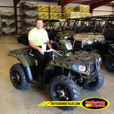 Thanks to Phillip Giaratano from Tickfaw LA for getting a 2016 Polaris Sportsman 850. @HattiesburgCycles