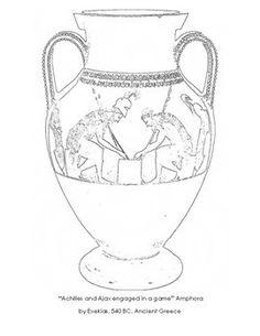 The Goddess Athena of Greek Mythology Coloring Page: The