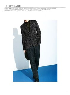 Damir Doma Men's Autumn Winter 2012-13 Jacquard Blazer featured in Le Bon Marché Rive Gauche Magazine.