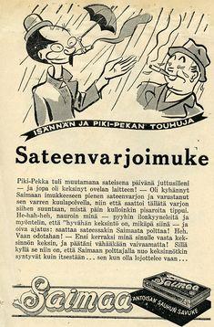 Retro Ads, Vintage Advertisements, Vintage Ads, Finland, Nostalgia, Memes, Historia, Meme, Old Ads