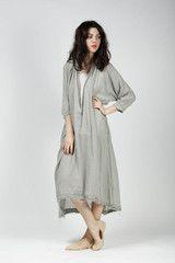 Black Crane 3/4 Sleeve Maxi Dress