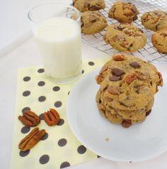 Cookies (super fáceis) de Pecãs e Chocolate