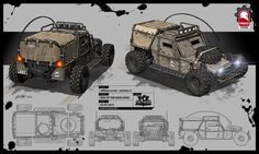 ArtStation - Rise of the Badlands Vehicles, Kris Thaler Zombie Survival Vehicle, Bug Out Vehicle, Death Race, Expedition Vehicle, Armored Vehicles, War Machine, Military Vehicles, Military Car, Concept Cars