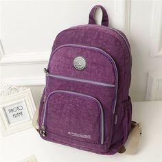 Women Large Capacity Mult-Pocket Waterproof Nylon Backpack