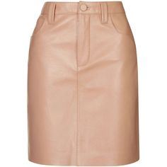 Draycott Leather Skirt by Unique (475 NZD) ❤ liked on Polyvore featuring skirts, topshop, blush, leather skirt, red skirt, red leather skirt, 80s skirt and pocket skirt
