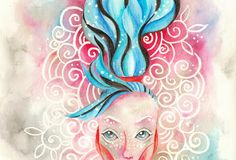 Henryenee Dudek: tender colours art masking fluid, aquarell, wax ...