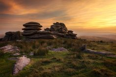 Rough Tor: Bodmin Moor, Cornwall (photo by Marc Elliott). North Cornwall, Devon And Cornwall, Cornish Coast, Cairns, Great Pictures, Historical Sites, Landscape Photos, Interesting Stuff, Mysterious