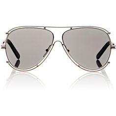 Chloé Isidora Aviator Sunglasses ($396) ❤ liked on Polyvore featuring accessories, eyewear, sunglasses, multi, mirrored aviator sunglasses, aviator style sunglasses, mirror aviators, aviator glasses and mirrored lens sunglasses