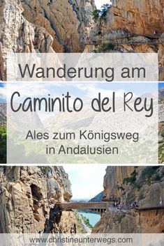 Der Caminito del Rey in Andalusien - Reisebericht von christine unterwegs Reisen In Europa, Andalucia, Rey, Good To Know, Places To See, Grand Canyon, The Good Place, Beautiful Places, Around The Worlds